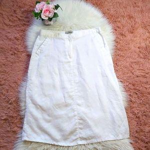 L.L Bean 100% Linen Spring Summer A-line Skirt